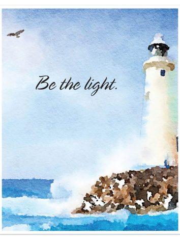 16''x20'' Be The Light Print