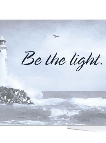 Be The Light Note Cards and Envelopes